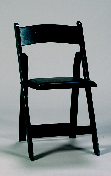 Signature Party Rentals Black Wood Folding Chair Inside