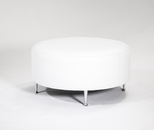 Signature Party Rentals Round 3 Ottoman Multiple Colors